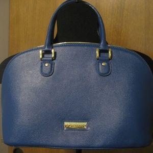 Beautiful Split Leather Sky Blue Hand Bag